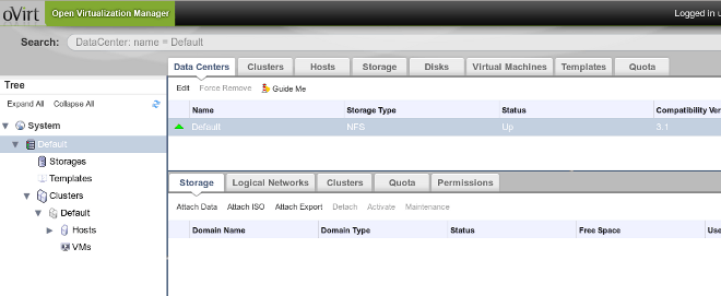 Figure 2. Data Centers Tab