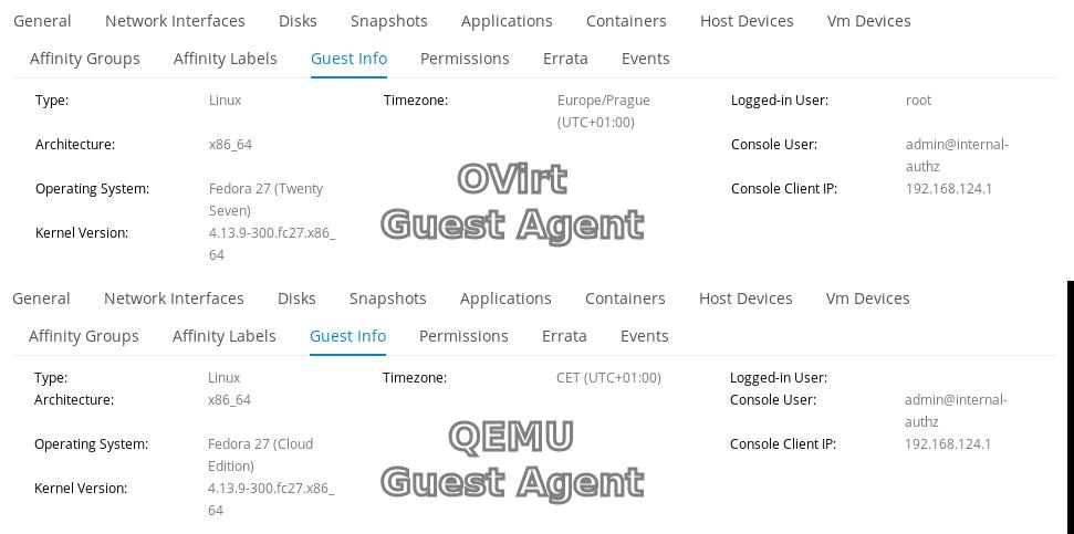 QEMU Guest Agent integration — oVirt