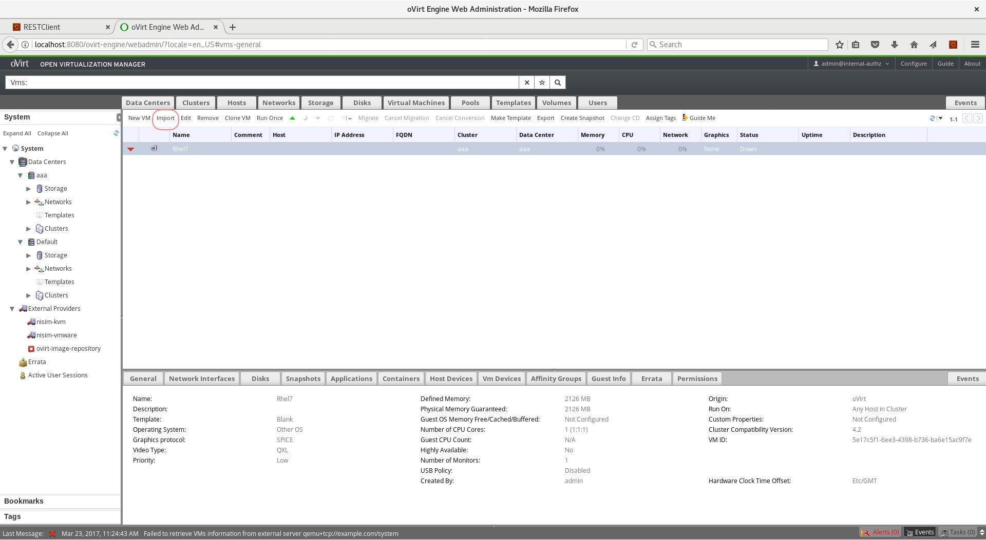 Importing Libvirt KVM VMs to oVirt — oVirt