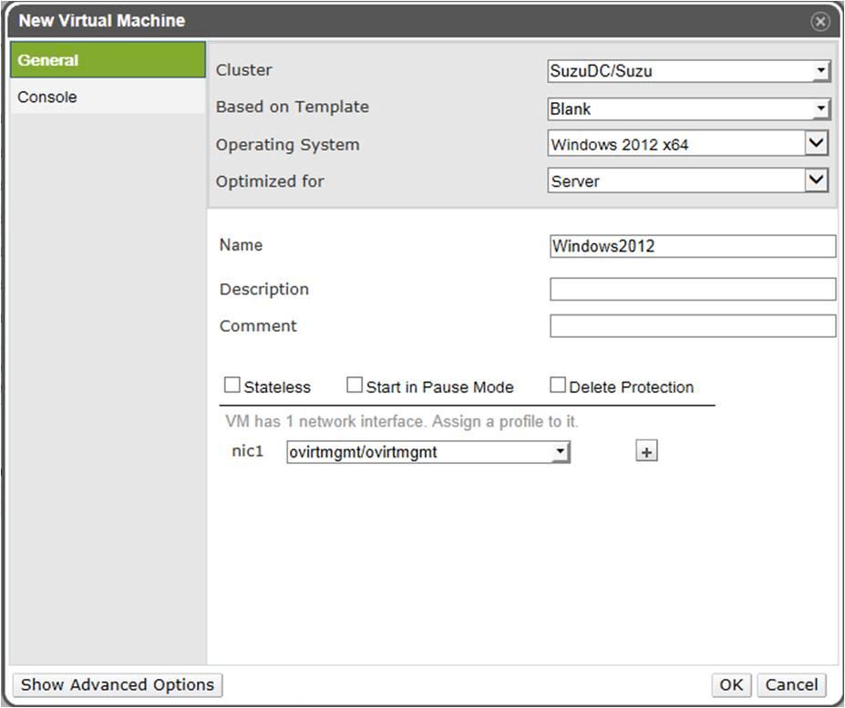 How to Create a Windows 2012 Virtual Machine — oVirt